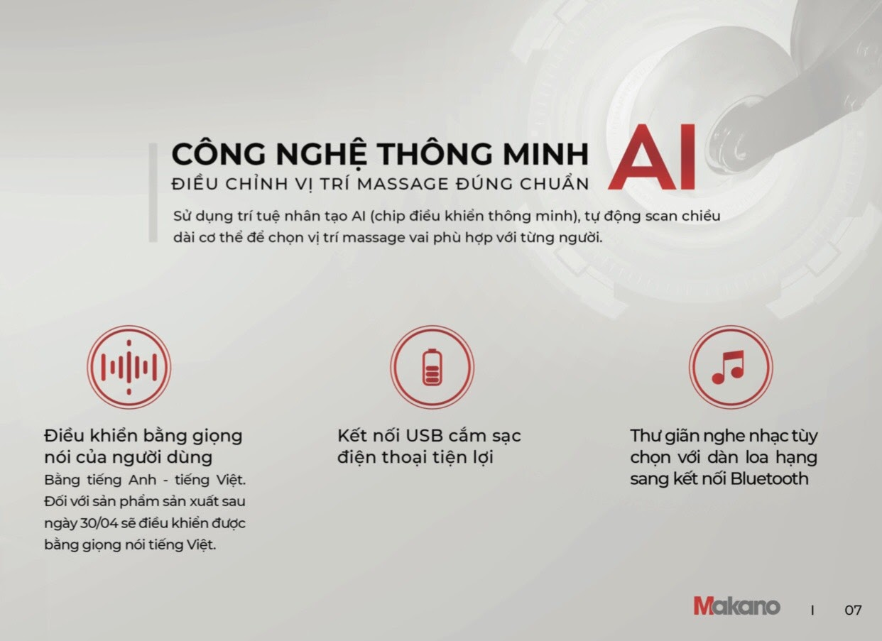 Ghế massage sử dụng trí tuệ nhân tạo AI giúp hiểu rõ yêu cầu người dùng