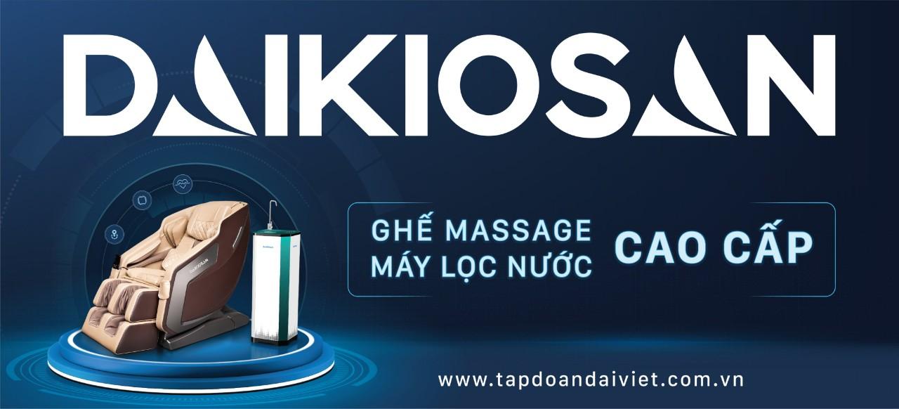 Ghế massage Daikiosan thương hiệu Việt, chất lượng Quốc Tế