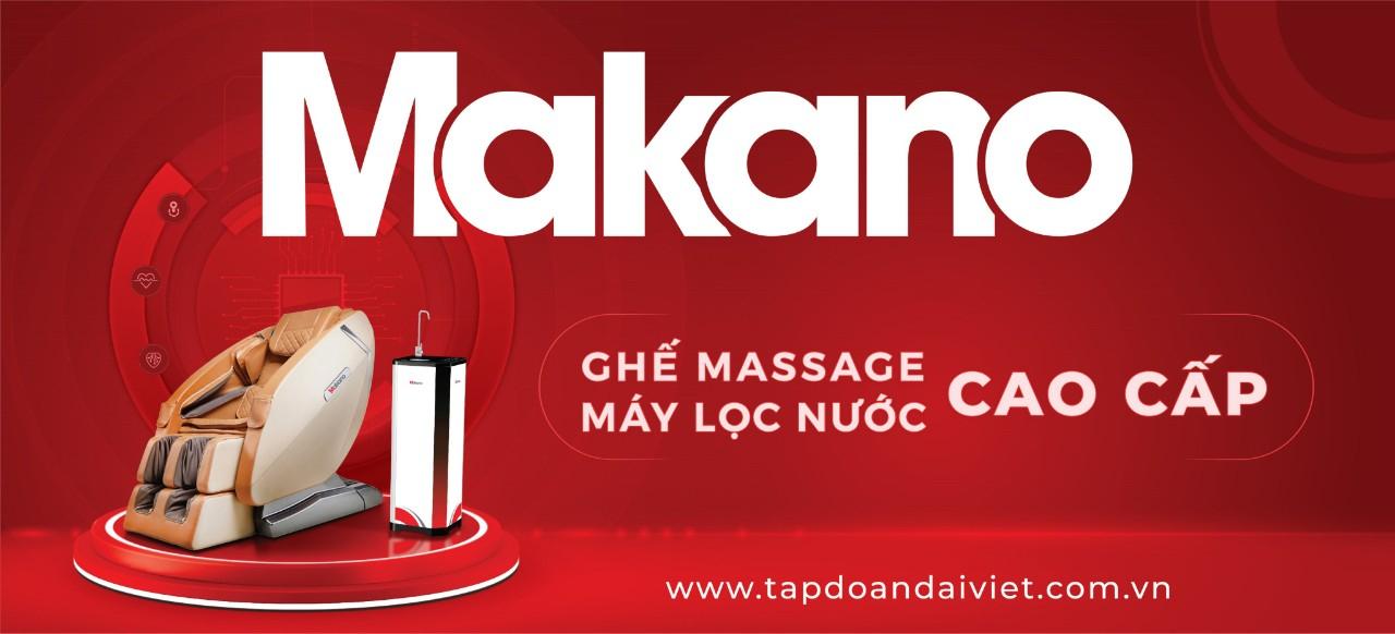 Ghế massage Makano thương hiệu Việt, chất lượng Quốc Tế