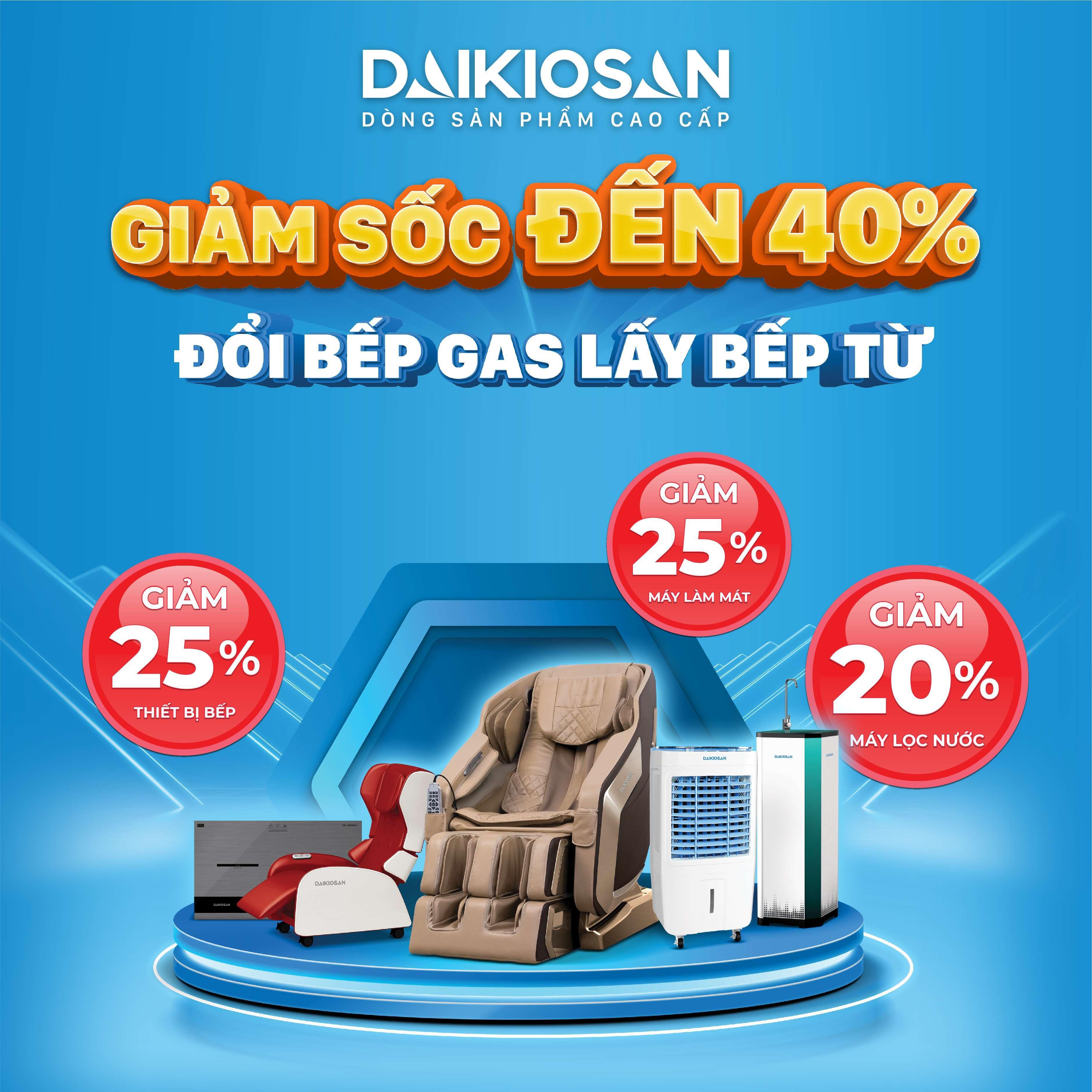Khuyến mãi lên đến 40% các sản phẩm thuộc Tập Đoàn Đại Việt