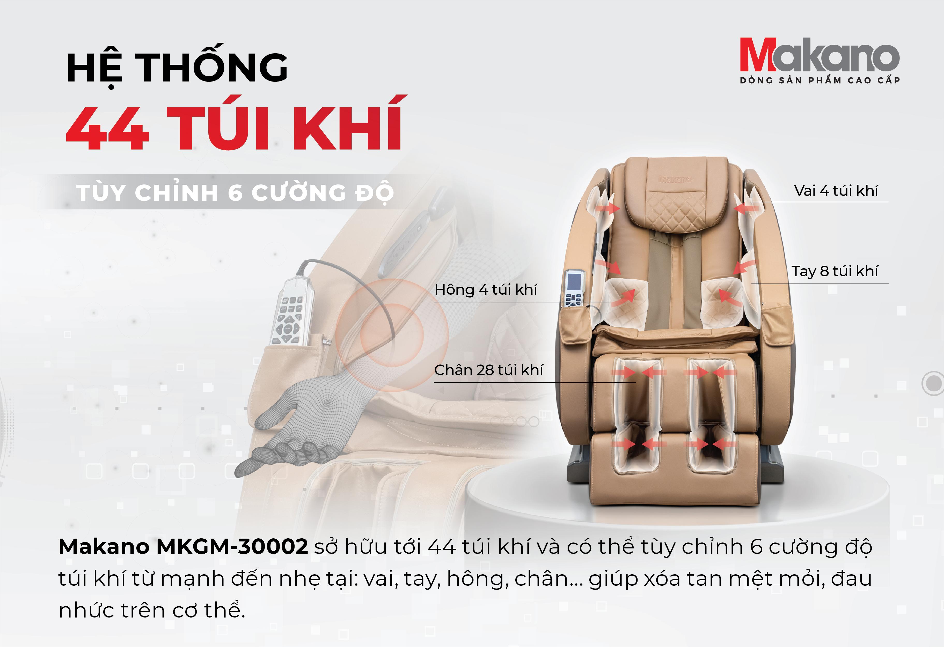 Túi khí - ghế massage Makano MKGM-30002
