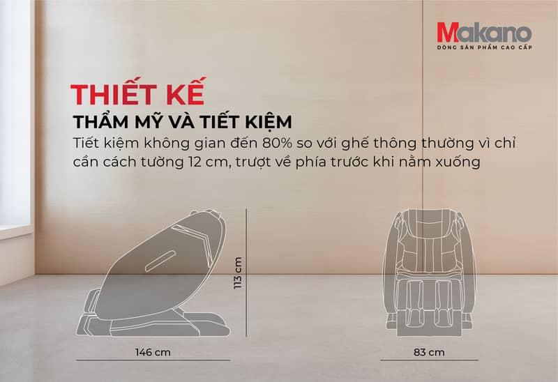 Thiết kế - ghế massage Makano MKGM-30002