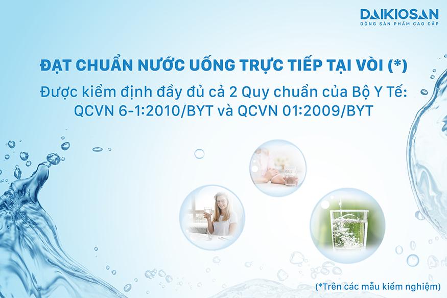 Máy lọc nước RO nóng nguội lạnh Daikiosan DSW-42810H đạt chuẩn nước uống trực tiếp