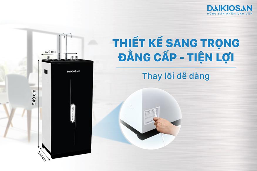 Máy lọc nước nóng nguội lạnh Daikiosan sang trọng, tiện ích