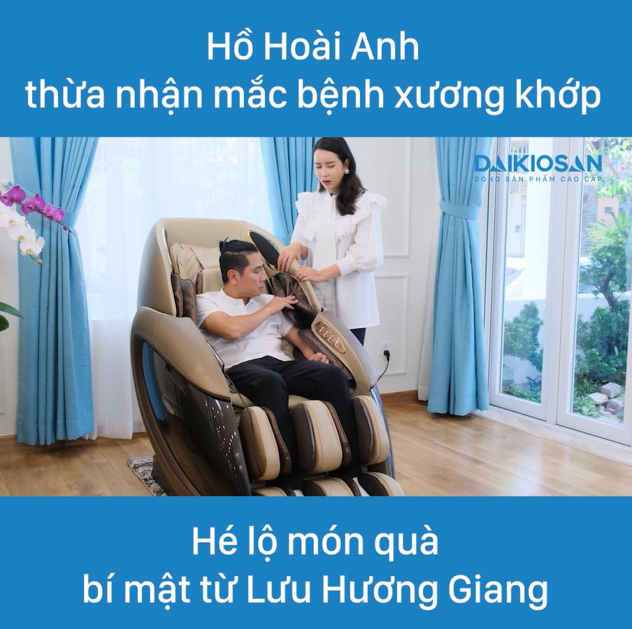 Ghế massage Daikiosan DKGM-30003 được nghệ sĩ Lưu Hương Giang và Hồ Hoài Anh đánh giá cao