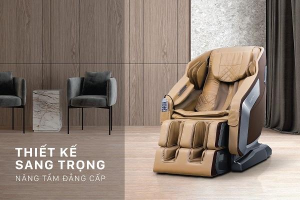 Thiết kế ghế massage sang trọng, màu sắc tinh tế