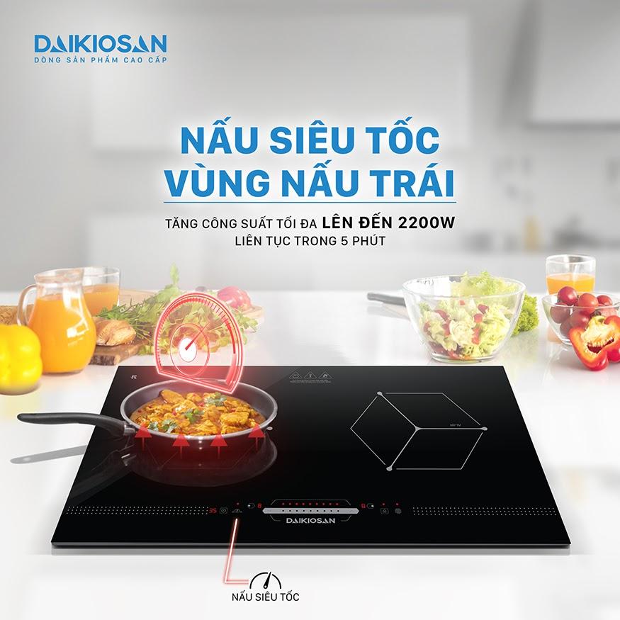 Bếp từ Daikiosan, Makano có nhiều tính năng giúp nấu nhanh hơn