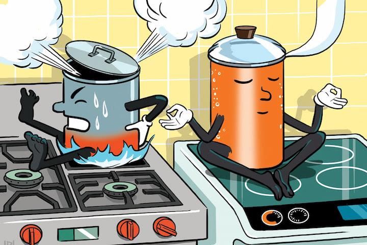 Bếp từ hồng ngoại không thải khói nên thân thiện với môi trường