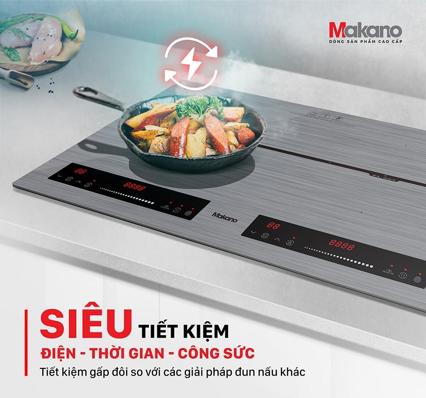 Bếp từ là thiết bị bếp siêu tiết kiệm điện và công sức