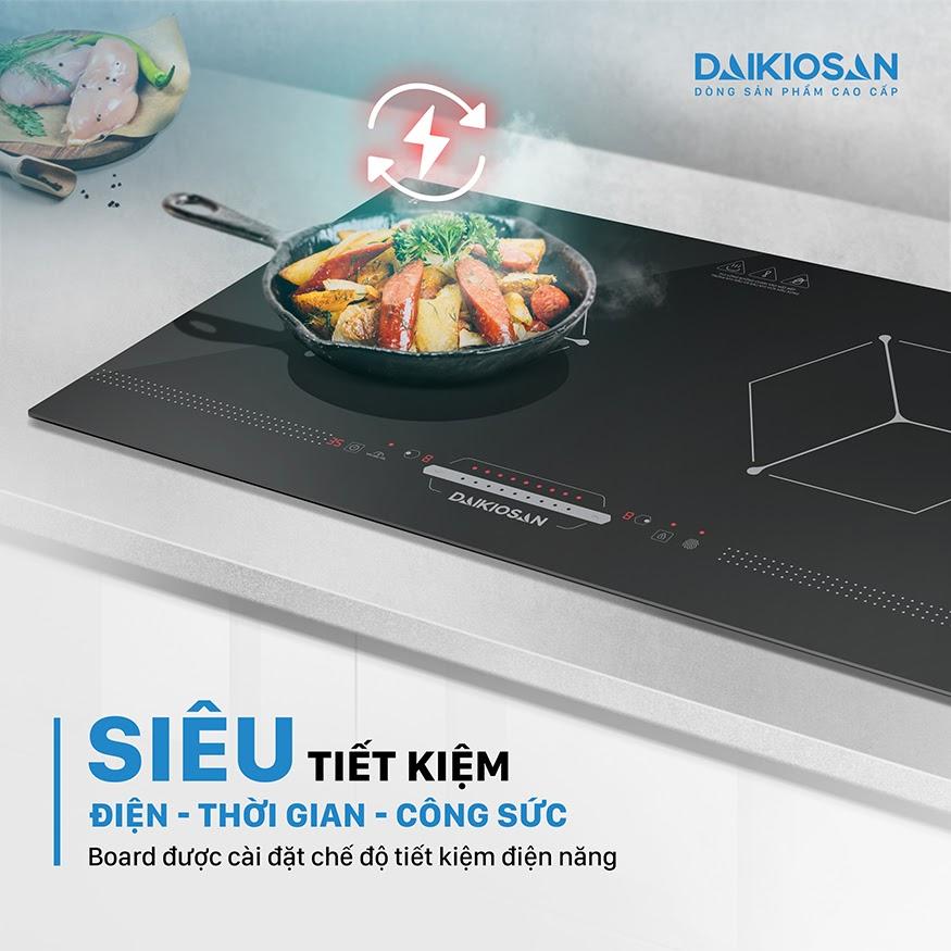 Bếp từ không có nhiệt thất thoát nên tiết kiệm điện và thời gian nấu