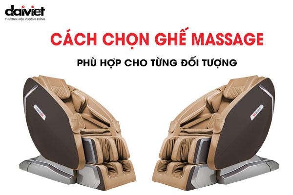 dối tượng sử dụng ghế massage