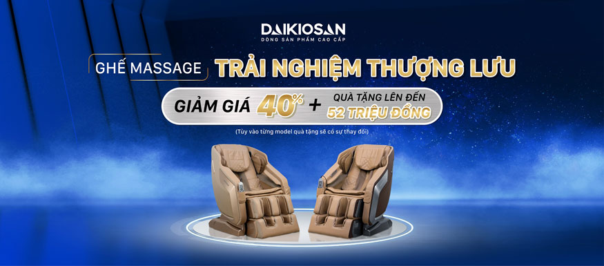 Ghế massage Daikiosan và Makano đảm bảo chất lượng từ bên ngoài lẫn bên trong