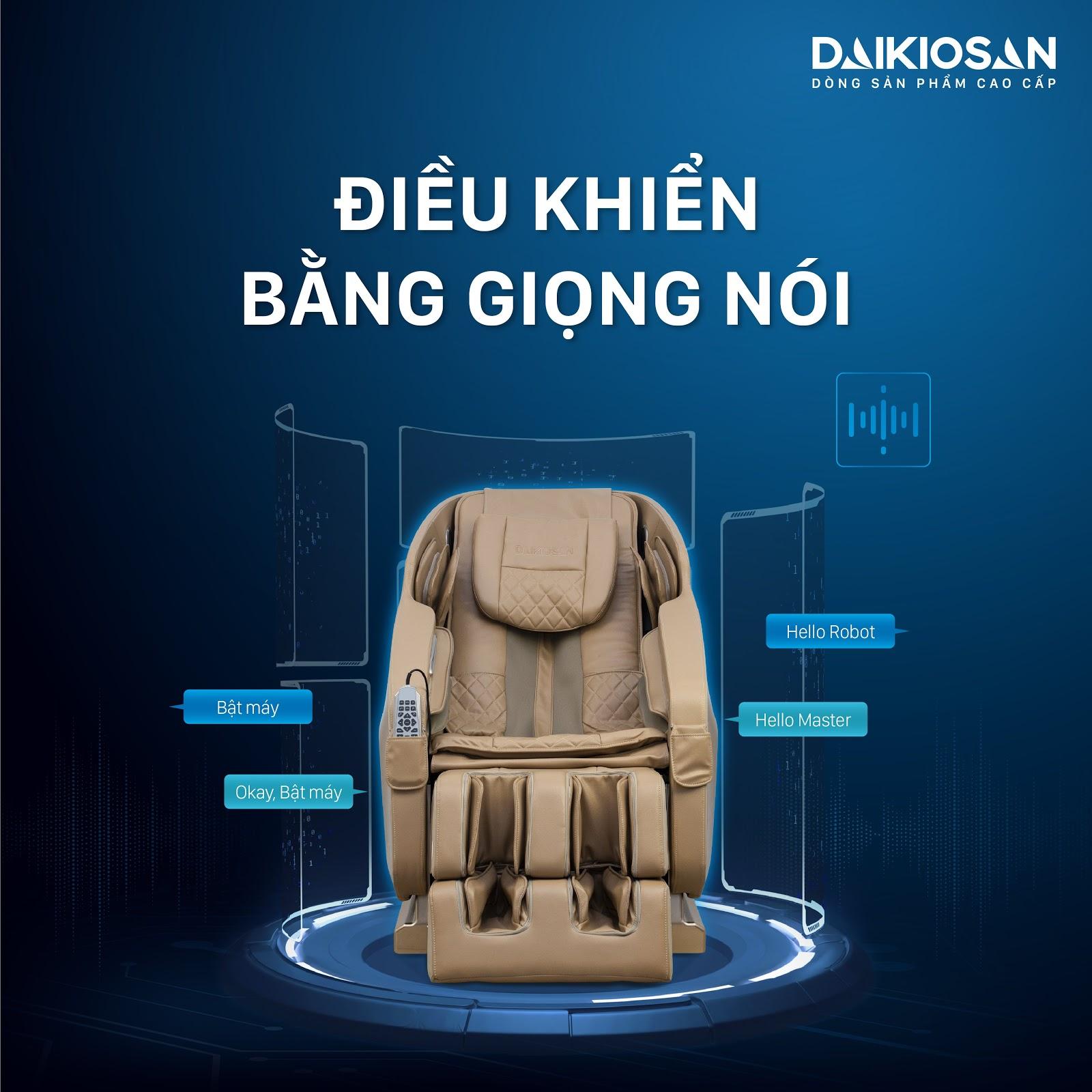 Ghế massage Daikiosan, Makano điều khiển bằng giọng nói dễ dàng cho người sử dụng