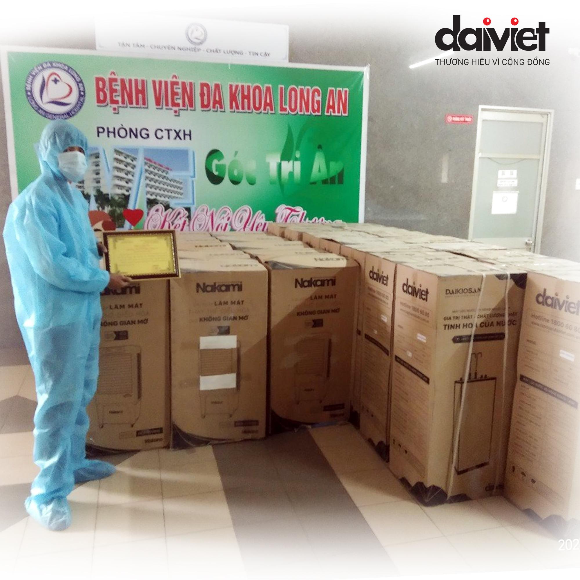 Trao tặng máy làm mát và máy lọc nước cho Bệnh Viện Đa Khoa Tỉnh Long An