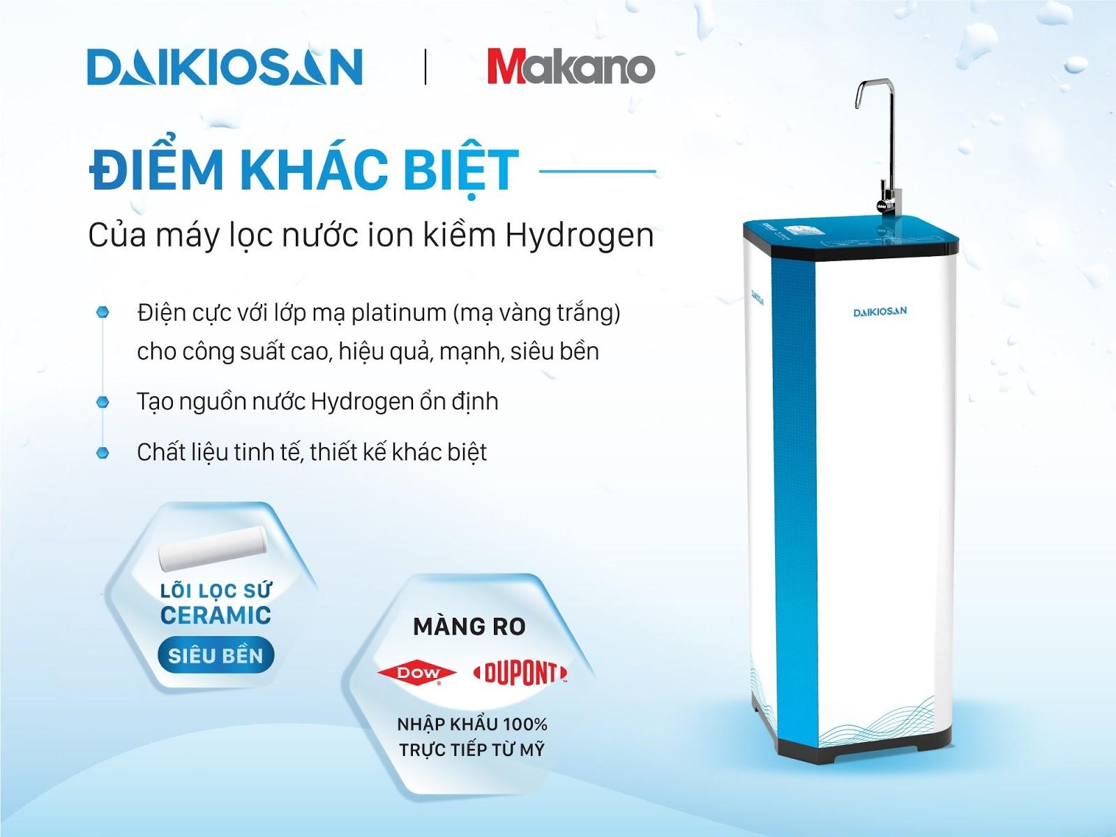 điểm khác biệt máy lọc nước daikiosan