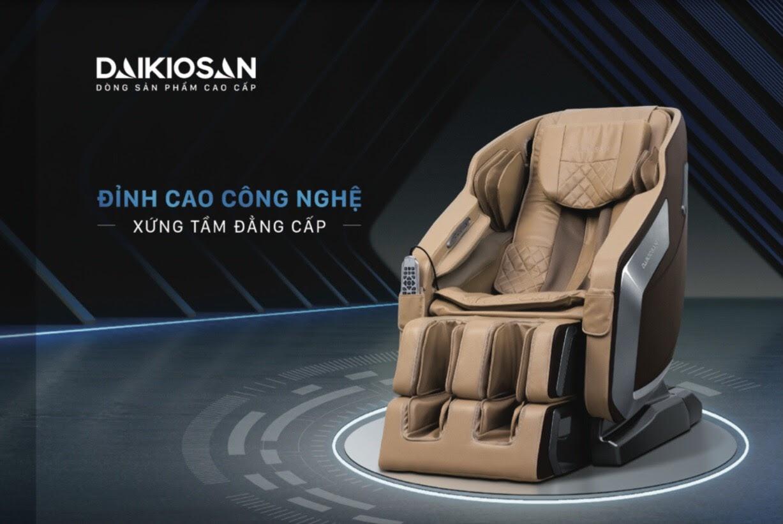Ghế massage Daikiosan sở hữu công nghệ massage hiện đại nhất.