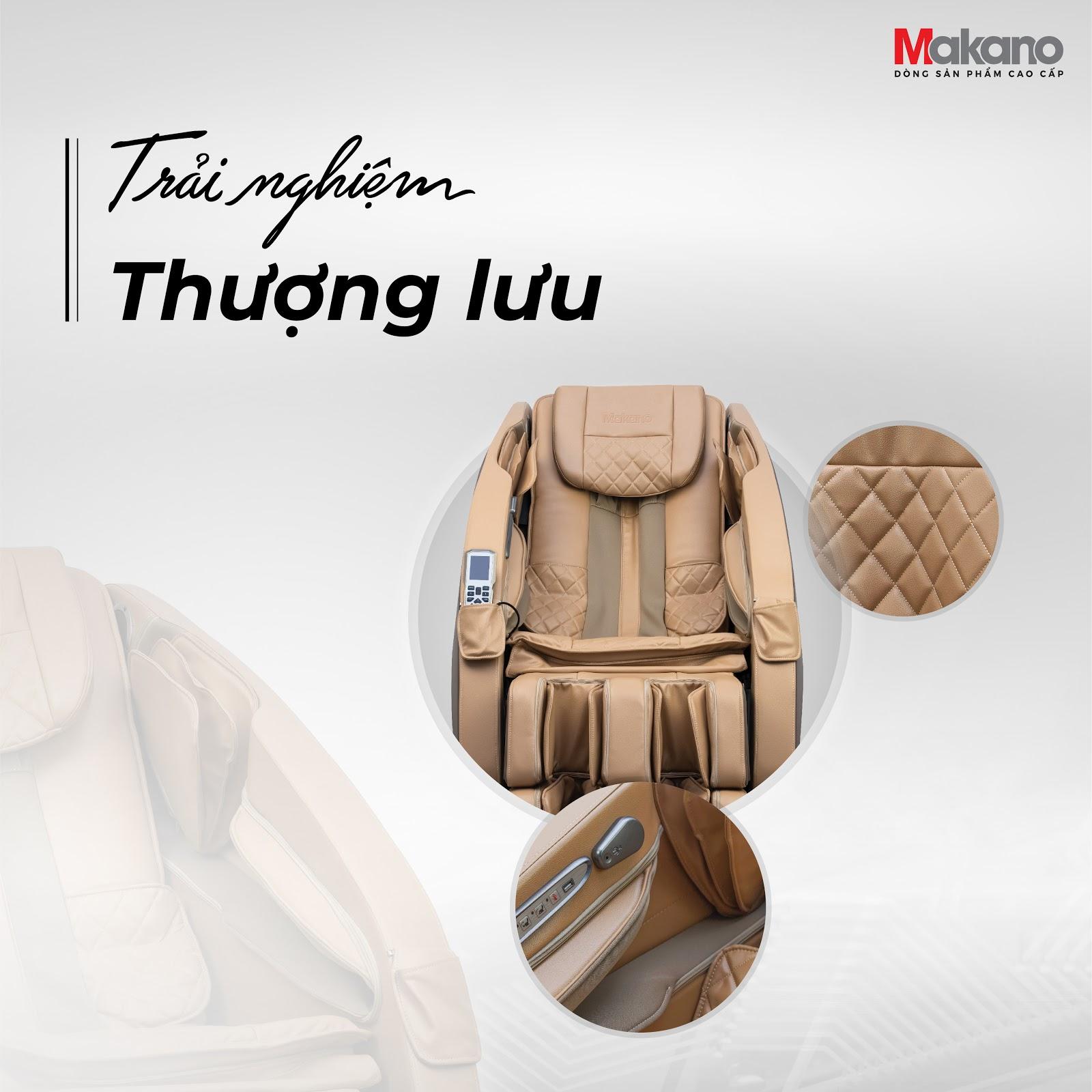 Ghế massage Makano sử dụng chất liệu da ghế bằng Microfiber PU