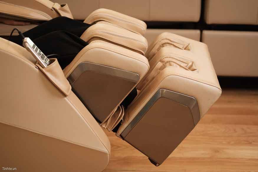 kích thước ghế massage chuẩn có thanh nhúng chân để tương thích nhiều người dùng