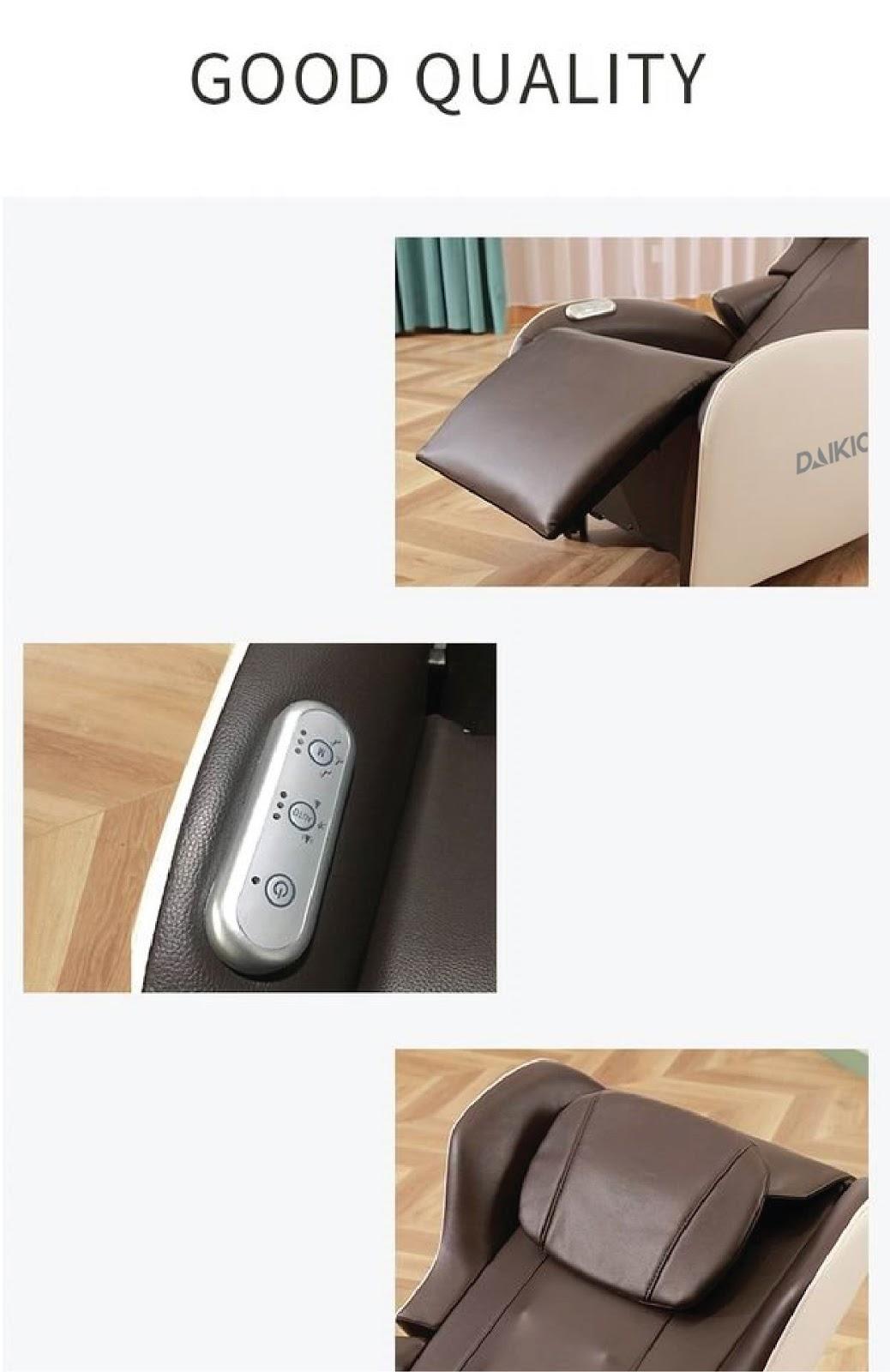 Thiết kế bảng điều khiển trên ghế massage lưng, dễ dàng sử dụng