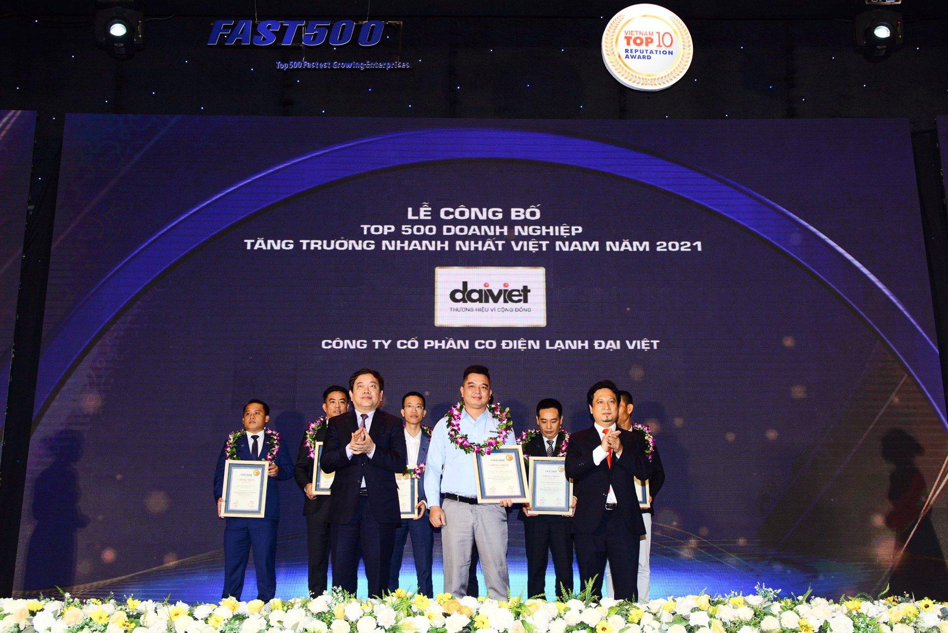 Tập đoàn Đại Việt lọt Top 19 doanh nghiệp tăng trưởng nhanh nhất năm 2021