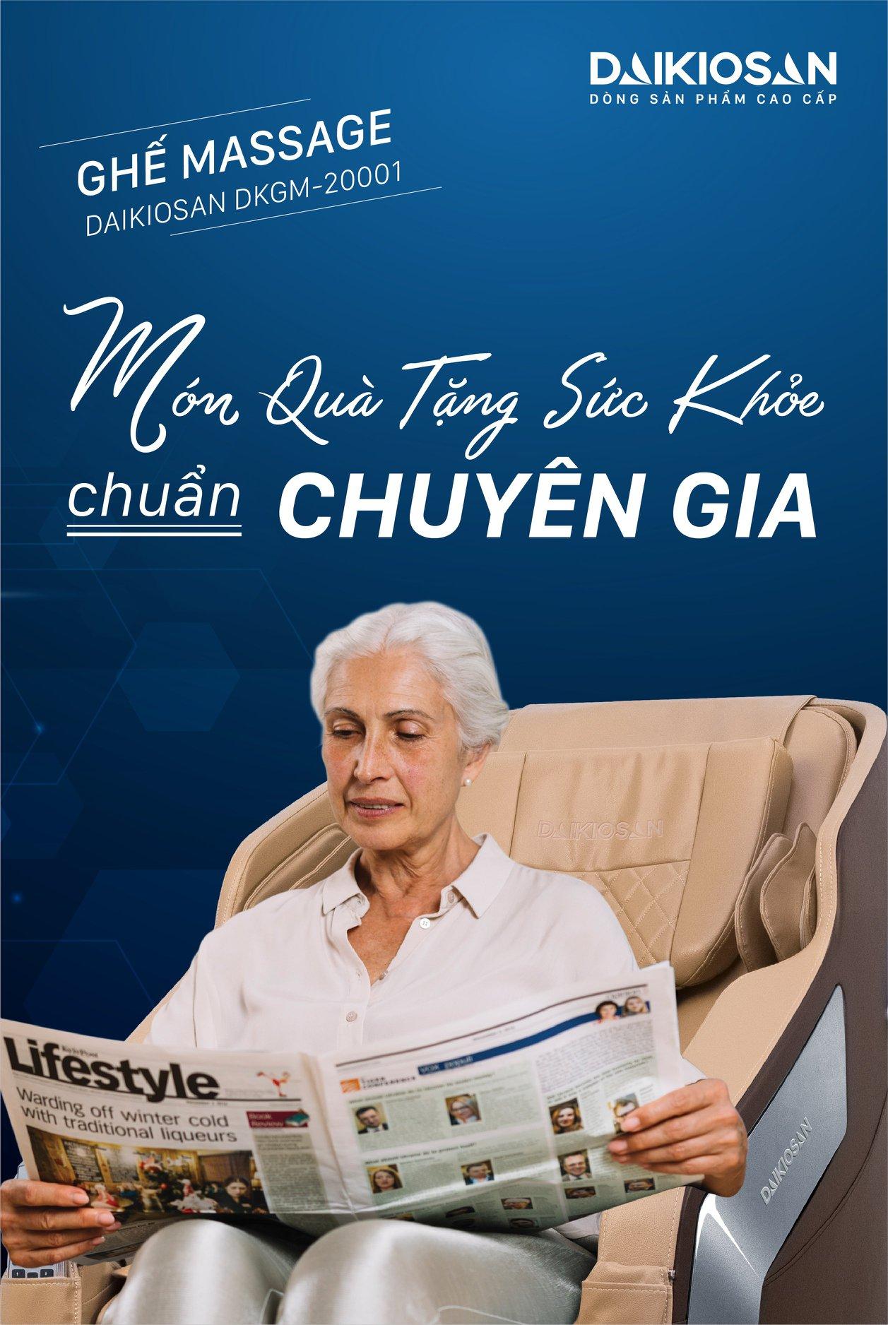 chọn ghế massage để chăm sóc sức khỏe người già