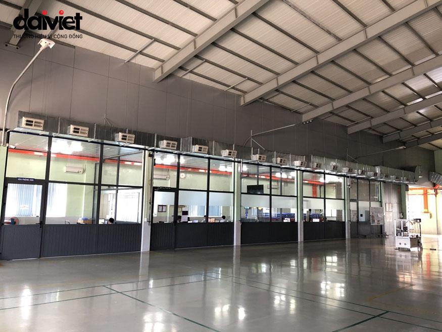 Thi công hệ thống máy làm mát công nghiệp công ty Đồng Quang