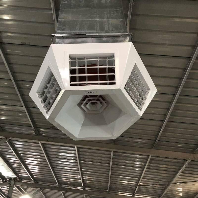 Hệ thống máy làm mát nhà xưởng bằng hơi nước duy trì nhiệt độ bên trong xưởng luôn mát mẻ
