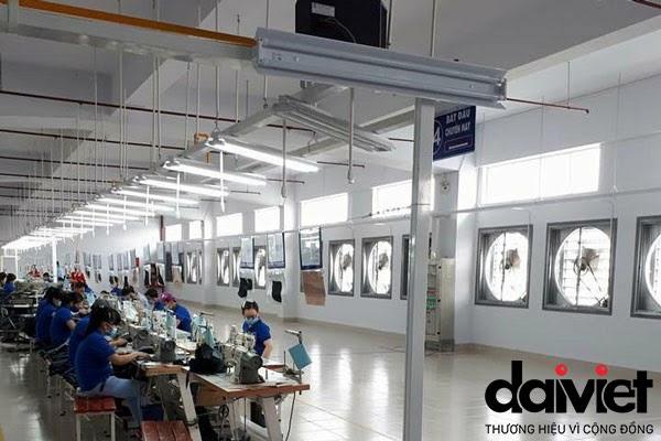 Quạt thông gió công nghiệp phù hợp với không gian nhà xưởng