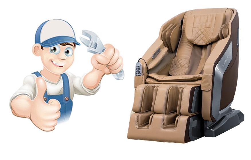 Kích thước ghế massage dễ dàng di chuyển bởi đội ngũ bảo hành