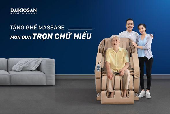 Ghế massage báo hiếu, quà tặng trọn chữ hiếu của những người con đến đấng sinh thành