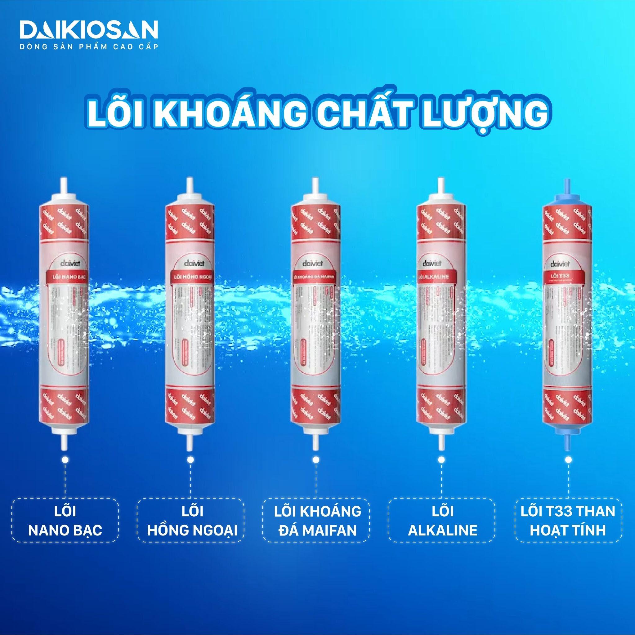 Lõi lọc nâng cấp được sản xuất bởi Đại Việt cho khả năng bù khoáng, tái nhiễm khuẩn cao