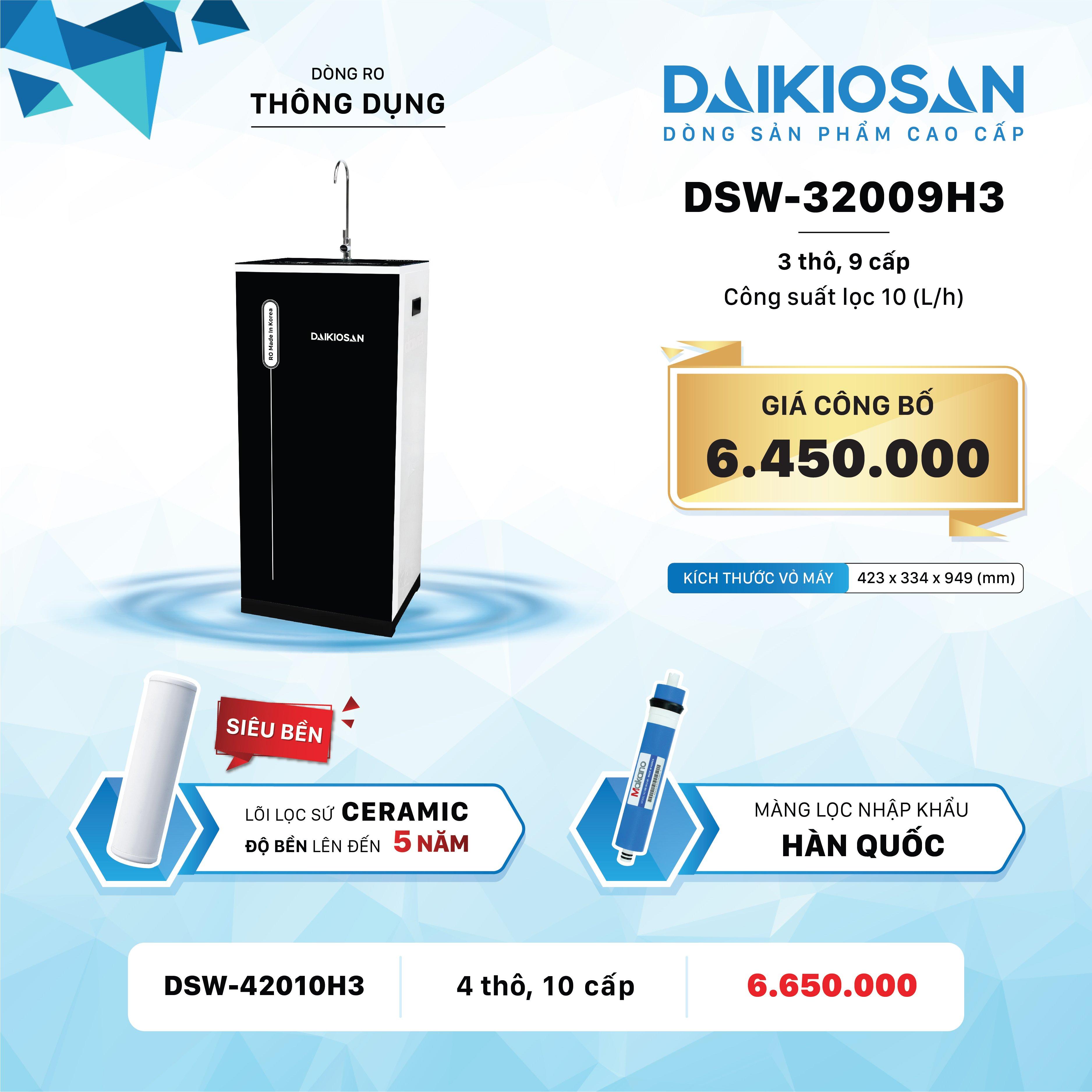 Máy lọc nước RO Daikiosan