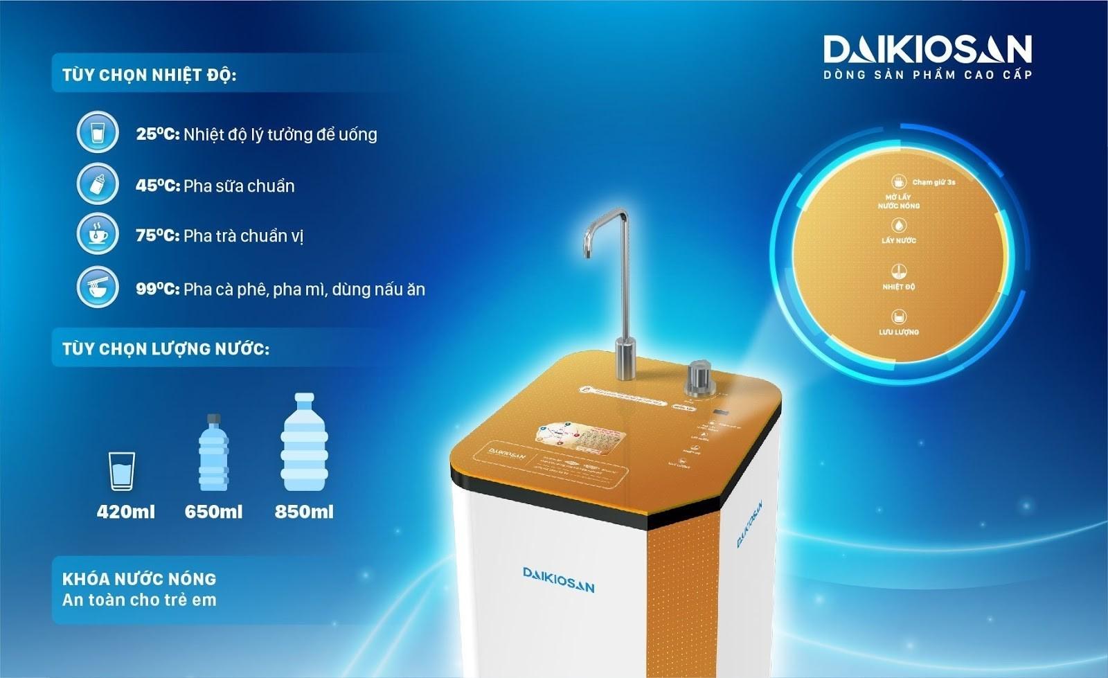 máy lọc nước nóng nguội siêu tốc