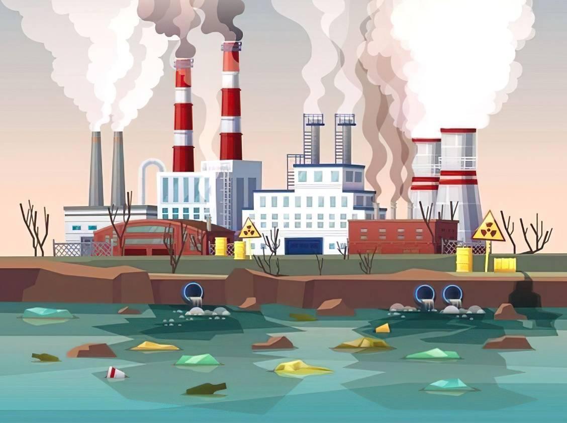 hoạt động công nghiệp gây ô nhiễm môi trường