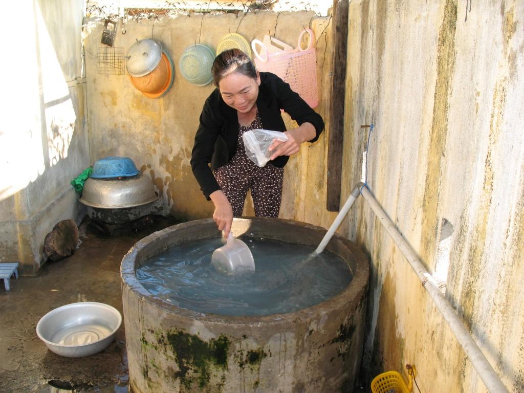 Nước giếng khoan được sử dụng nhiều ở vùng nông thôn