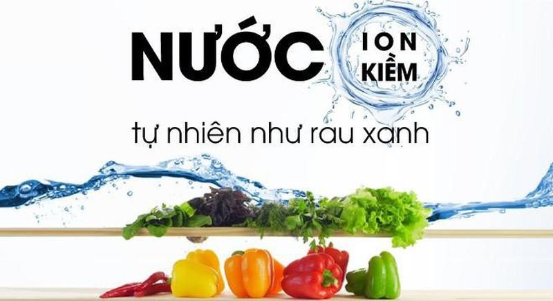 nước ion kiềm như rau xanh