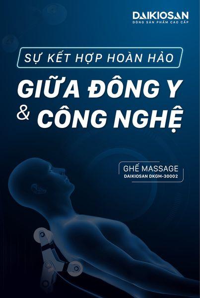 Máy massage kết hợp công nghệ hiện đại và y học cổ truyền
