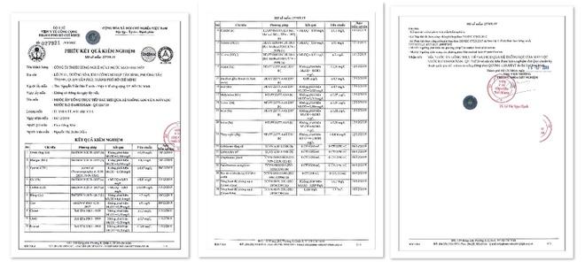 Giấy chứng nhận máy lọc nước Daikiosan và Makano đạt Quy chuẩn Kỹ thuật Quốc gia QCVN 6-1:2010/BYT dành cho nước uống trực tiếp do Viện Y tế Công cộng TP.HCM kiểm định.