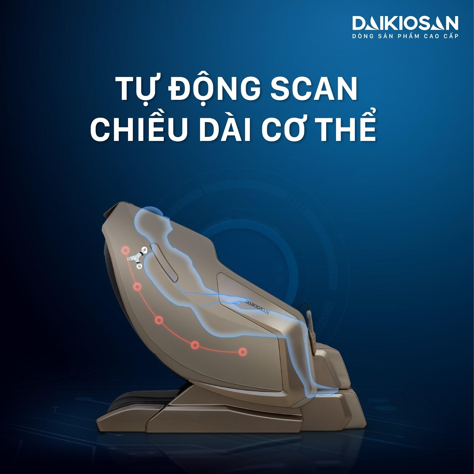 Chế độ giúp hình dung được cơ thể bạn và điều chỉnh ghế cho tương thích với cơ thể.