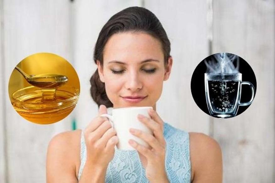 uống nước ấm giảm cân và tăng cảm giác ngon miệng khi pha với mật ong