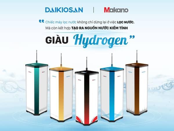 Các điểm khác biệt ưu việt của máy lọc nước ion kiềm Daikiosan, Makano