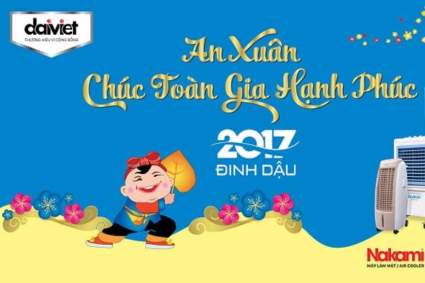 Thông báo thời gian nghỉ tết Nguyên Đán Đinh Dậu 2017 công ty Đại Việt