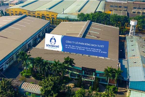 Trúng thầu thi công hệ thống máy làm mát cho công ty bông Bạch Tuyết