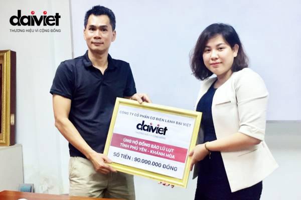 Công ty CP Cơ điện lạnh Đại Việt ủng hộ đồng bào bão lũ hai tỉnh Khánh Hòa - Phú Yên