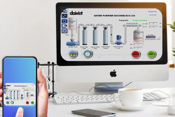 Đại Việt ra mắt công nghệ điều khiển máy lọc nước công nghiệp Daikiosan, Makano qua smartphone
