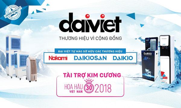 Công ty Đại Việt là nhà tài trợ kim cương Hoa Hậu Việt Nam 2018