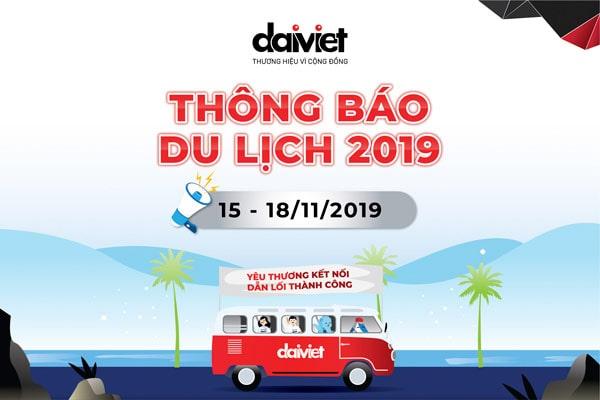 Thông báo nghỉ du lịch 2019