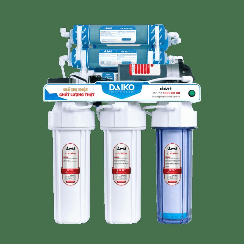 Máy lọc nước RO không vỏ tủ có sử dụng ke đỡ Daiko DAW-34006D