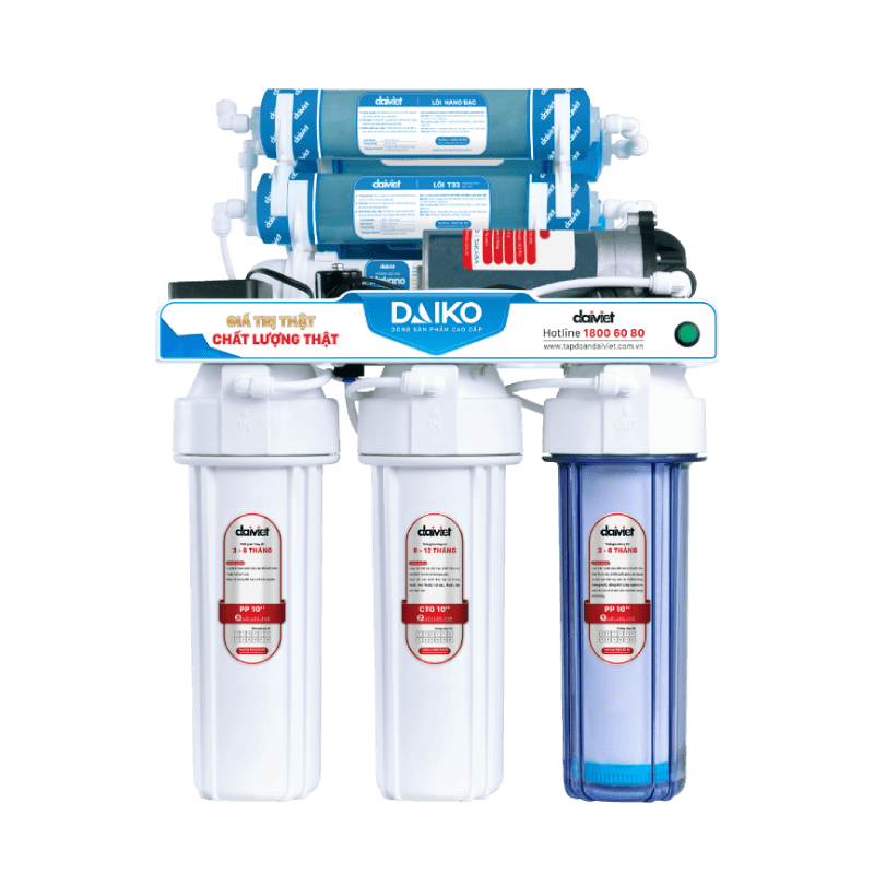 Máy lọc nước RO không vỏ tủ có sử dụng ke đỡ Daiko DAW-34009D