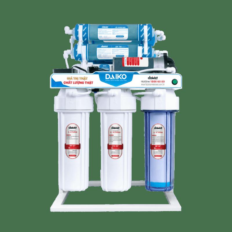 Máy lọc nước RO không vỏ tủ sử dụng chân đỡ Daiko DAW-34009D2